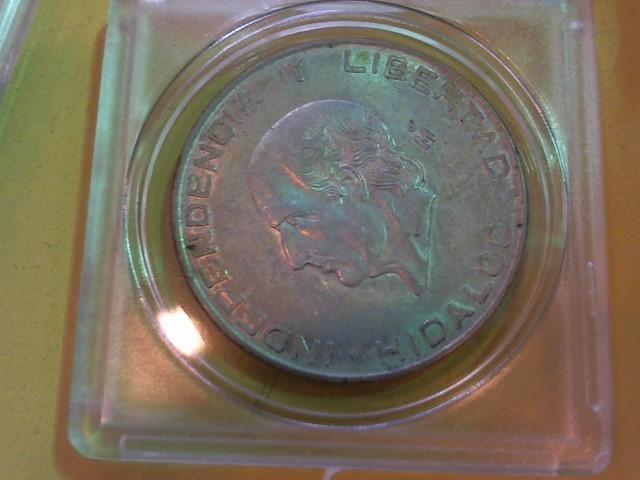 MEXICO Silver Coin SILVER HIDALGO CINCO PESOS