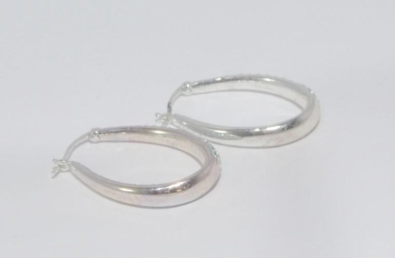 Gold Earrings 10K White Gold 7.7g