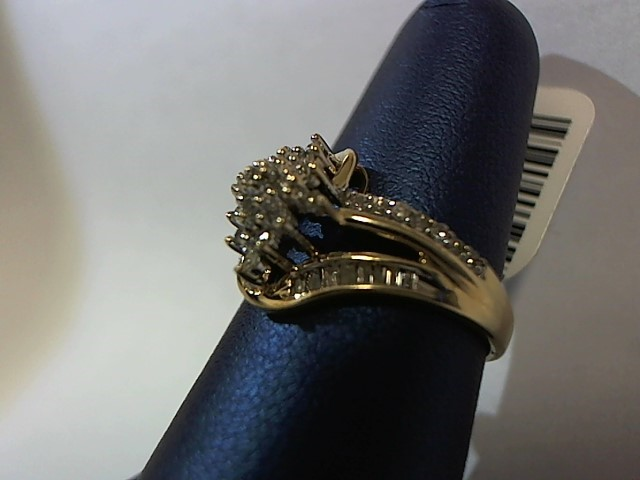 Lady's Diamond Fashion Ring 47 Diamonds .47 Carat T.W. 10K Yellow Gold 2.4g