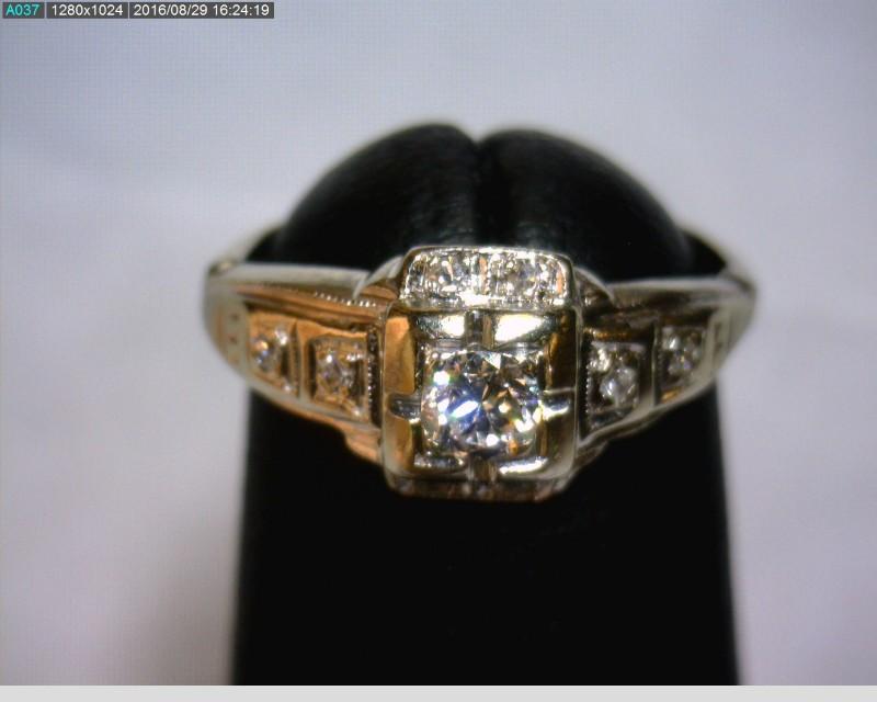 Lady's Diamond Fashion Ring 9 Diamonds .22 Carat T.W. 14K White Gold 1.06dwt