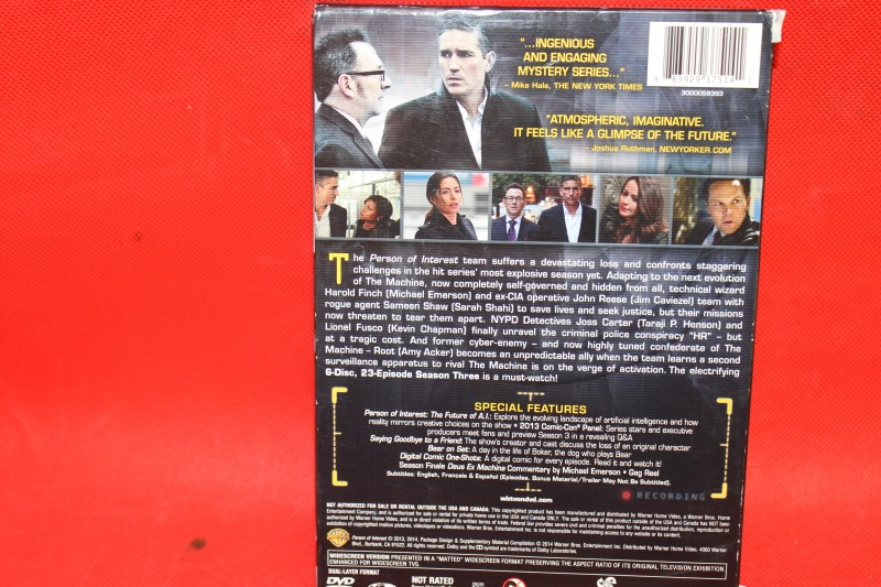 Person of Interest: The Complete Third Season (DVD, 2014, 6-Disc Set)
