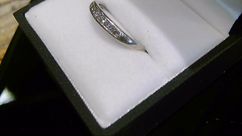 Lady's Diamond Wedding Band 9 Diamonds .41 Carat T.W. 14K White Gold 1.9g