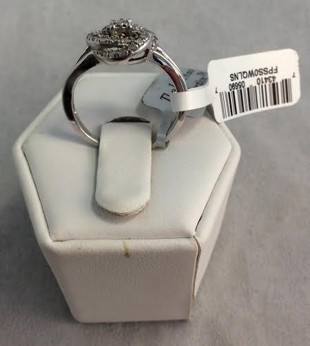 Lady's Diamond Fashion Ring 26 Diamonds .26 Carat T.W. 10K White Gold 2.52g