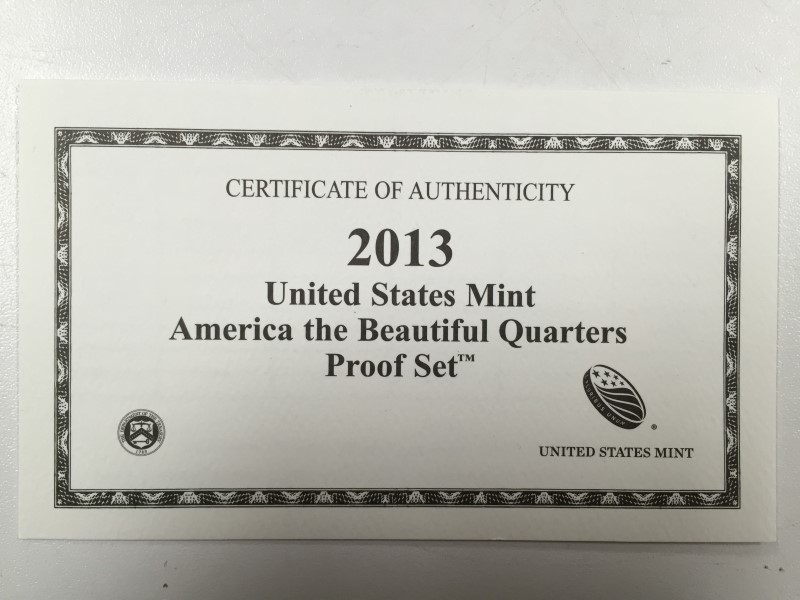 2013 UNITED STATES AMERICA THE BEAUTIFUL QUARTERS PROOF SET