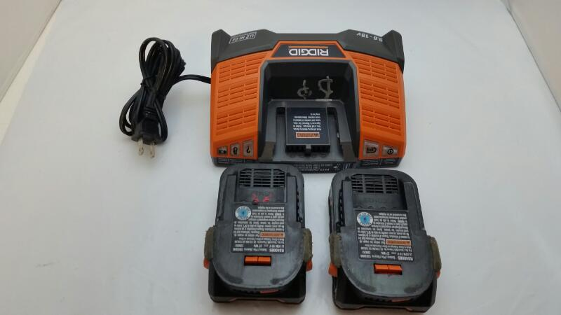 Ridgid X4 18V Hyper Lithium-Ion Cordless Drill 4pc Tool Set R9651