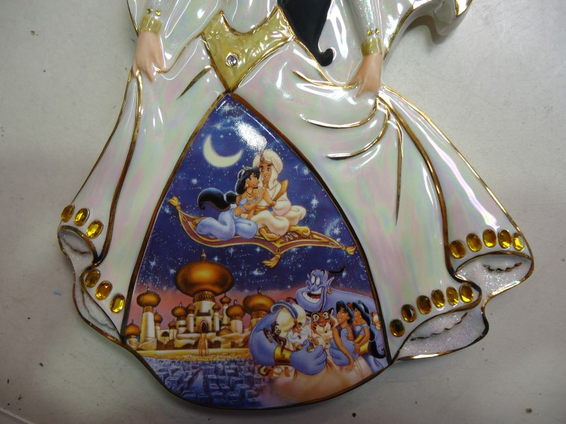 "Aladdin Jasmine ""Magical Day"" Bradford Exchange Plate/Plaque 11th Issue with COA"