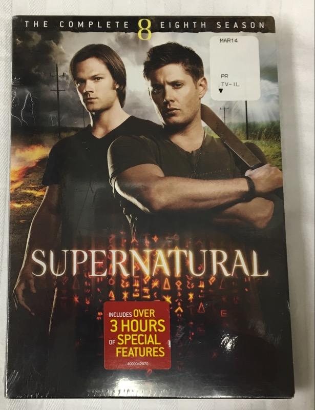 DVD BOX SET SUPERNATURAL SEASON 8