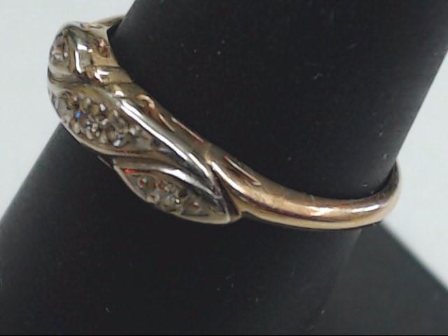 Lady's Gold-Diamond Anniversary Ring 5 Diamonds .10 Carat T.W. 14K Yellow Gold