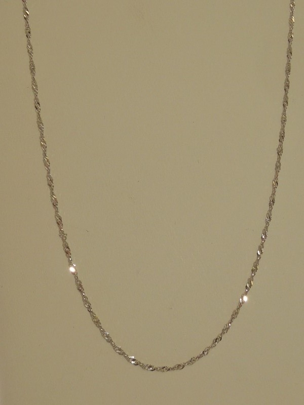"20"" Gold Link Chain 10K White Gold 1.7g"