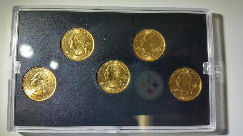 2000-D Gold Edition State Quarter Collection Set (MA, MD, SC, NH, VA)
