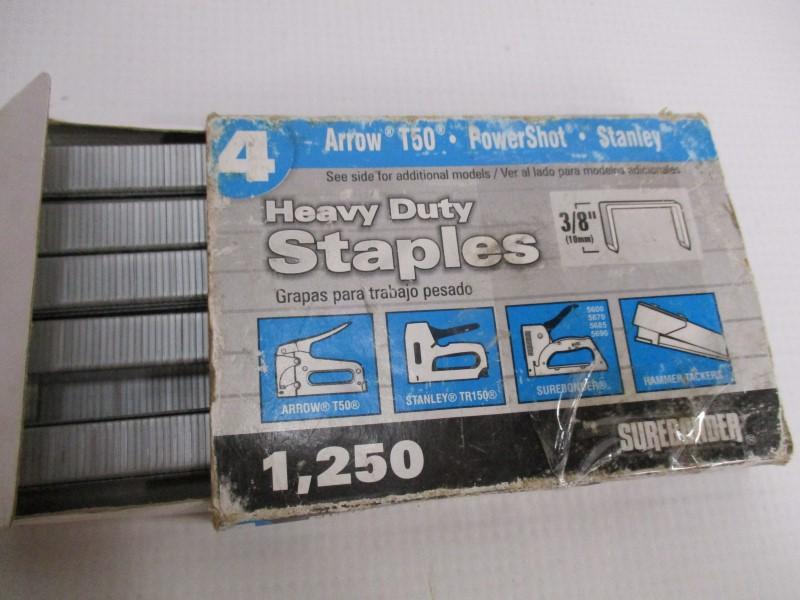 PAIR OF 2 STAPLERS - USED - BOSTITCH STAPLER & ARROW HT50P SLAP HAMMER