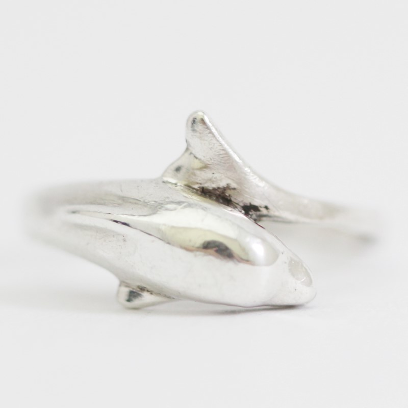 Women's Sterling Silver Dolphin Ring Size 9