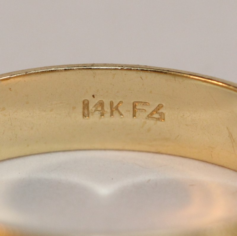 Gent's Gold Wedding Band 14K Yellow Gold 5.1g Size:10.8