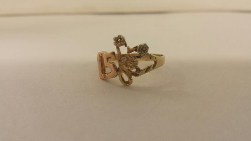 Lds 10K-YG 15TH Birthday Ring