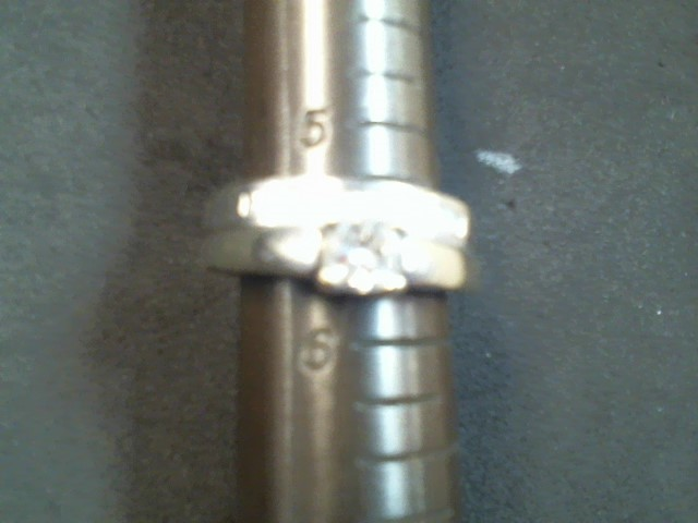 Lady's Diamond Wedding Set 10 Diamonds .49 Carat T.W. 14K Yellow Gold 7.6g
