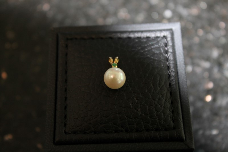 7mm Cultured White Pearl Yellow Gold Pendant