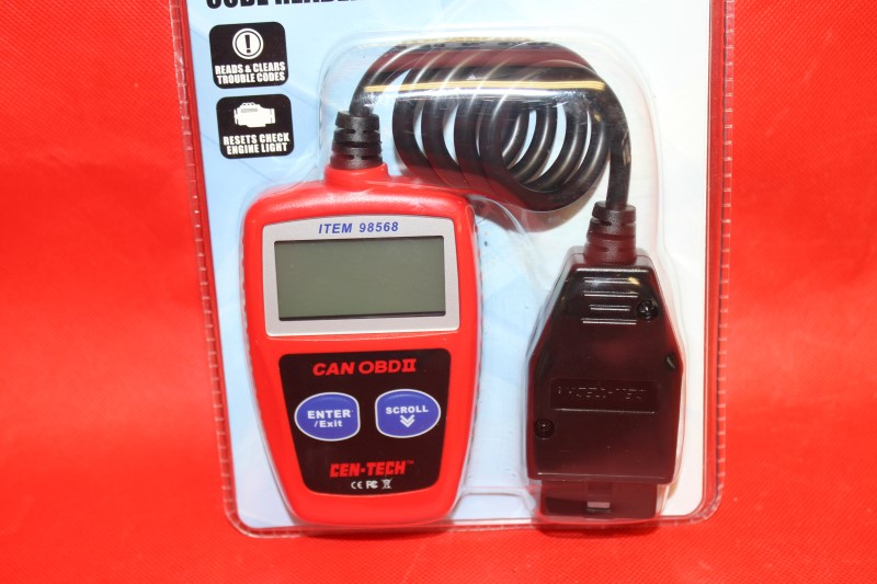 CEN-TECH CAN OBDII CODE READER WITH MULTILINGUAL MENU ITEM 98568 NEVER OPENED
