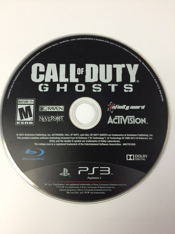 Playstation 3 PS3 Call of Duty COD Ghosts *DISC ONLY*