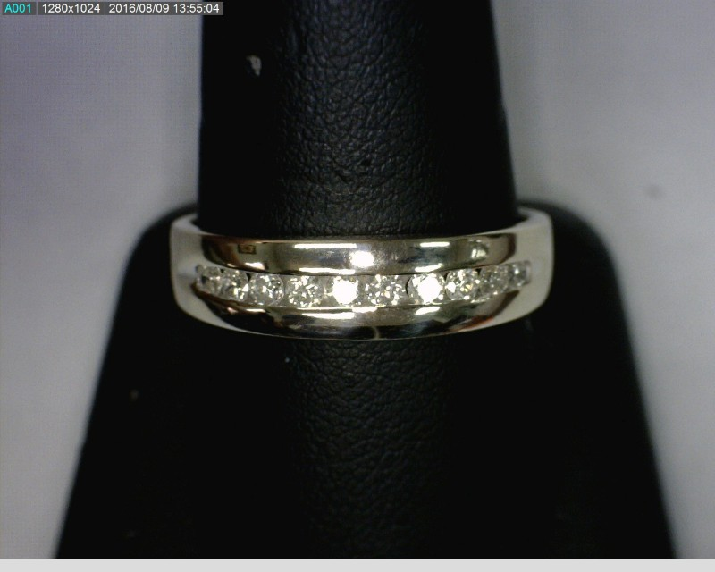 Gent's Diamond Fashion Ring 10 Diamonds .40 Carat T.W. 10K White Gold 3.63dwt