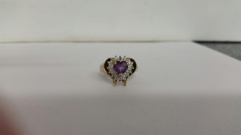 LDS-14K Y/G Purple Heart  8-Round Diamonds
