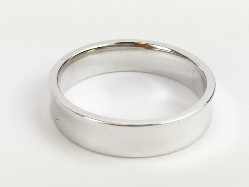 Gold Wedding Band 18K White Gold 6.51g Size:9