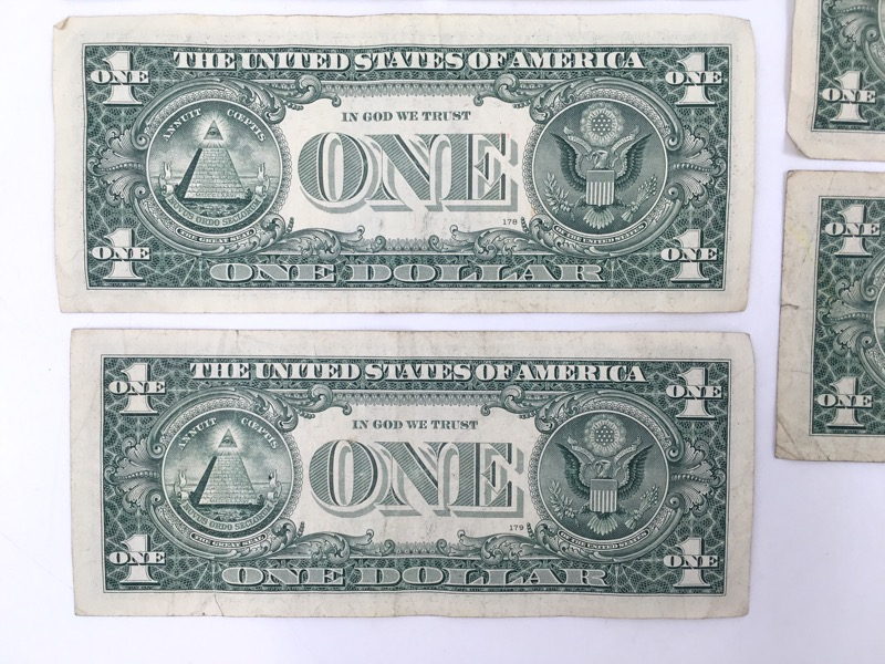 2006 $1 STAR Notes - San Francisco/Chicago Serial No. - Lot of 5