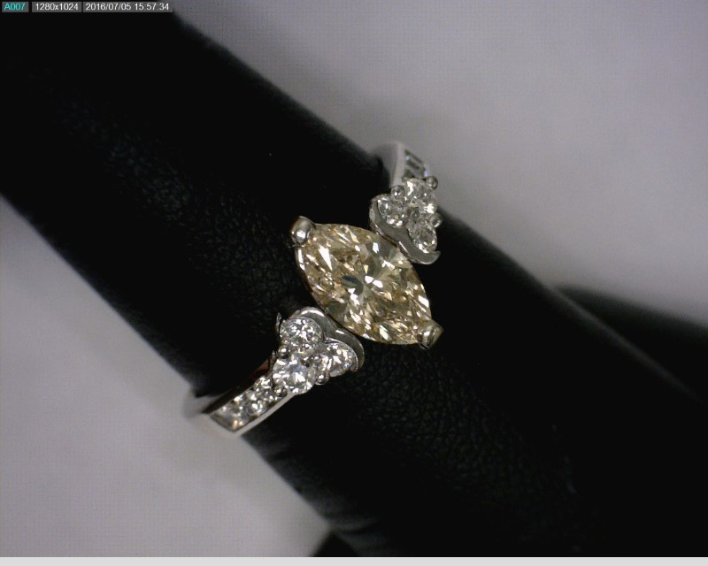 Lady's Gold-Diamond Anniversary Ring 13 Diamonds 1.43 Carat T.W. 14K White Gold