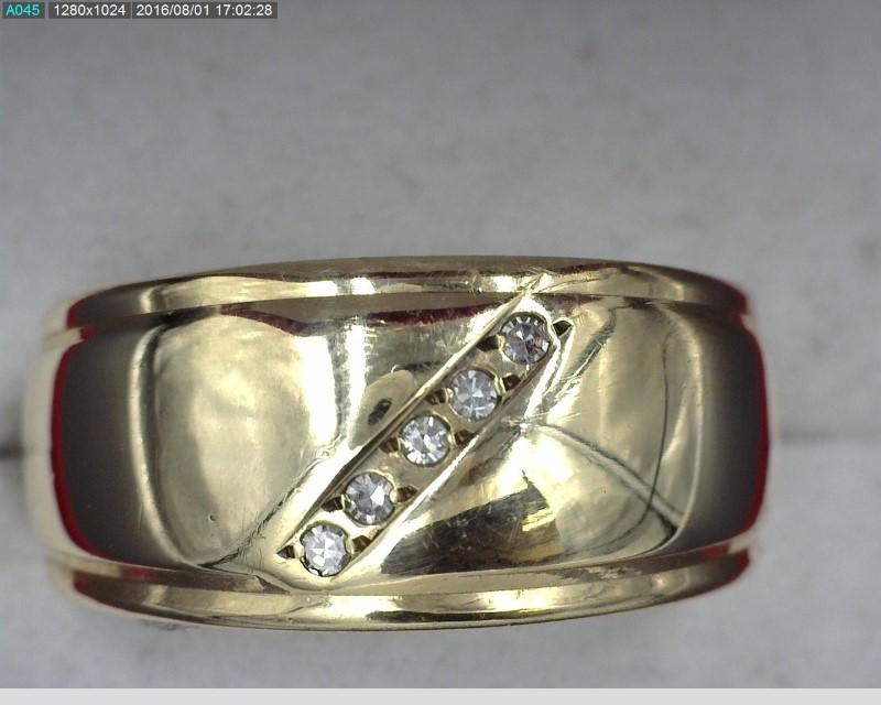 WIDE 14KYG DIAMOND BAND APX.05C.T.W 6.5G SZ.8
