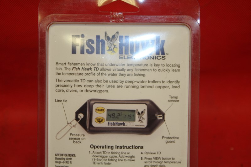 Fish Hawk TD Digital Water Temperature and Depth Reader NEWEST MODEL