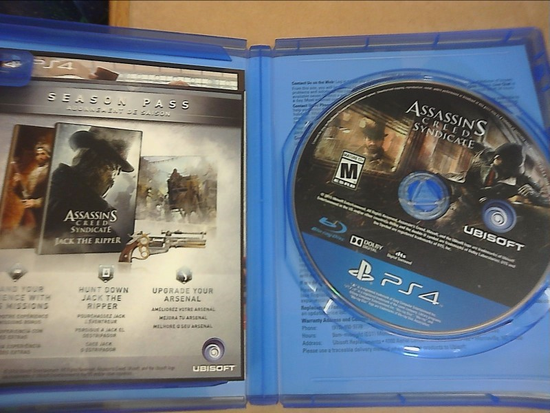SONY PlayStation 4 Game ASSASSIN'S CREED SYNDICATE - PS4
