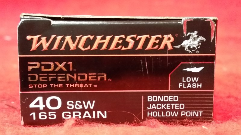 Winchester 40 S&W 165gr PDX1 Defender Ammo - 20rds