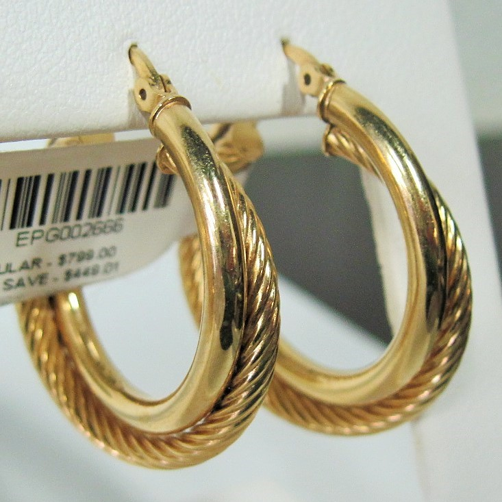 Gold Earrings 14K Yellow Gold 3.49g