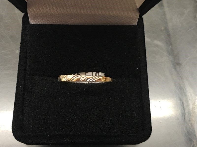 Lady's Gold Wedding Band 14K Yellow Gold 0.55dwt