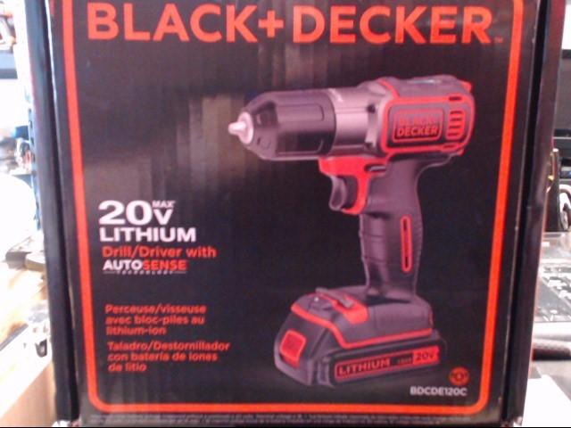 BLACK&DECKER Cordless Drill BDCDE120C