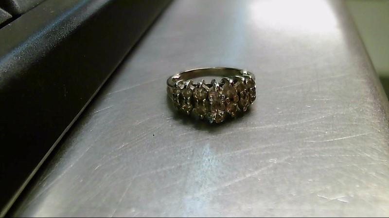 Lady's Gold-Diamond Anniversary Ring 14 Diamonds .84 Carat T.W. 14K White Gold