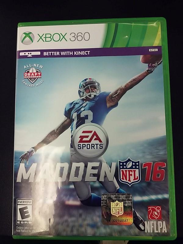 MICROSOFT Microsoft XBOX 360 Game XBOX 360 MADDEN NFL 16