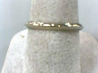 Lady's Gold Wedding Band 14K White Gold 1.2dwt Size:7