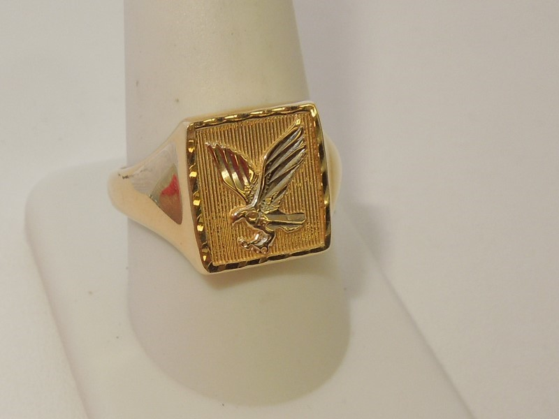 Gent's Gold Ring 14K 2 Tone Gold 5.4g Size:10