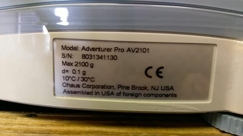 OHAUS ADVENTURER PRO AV2101 SCALE
