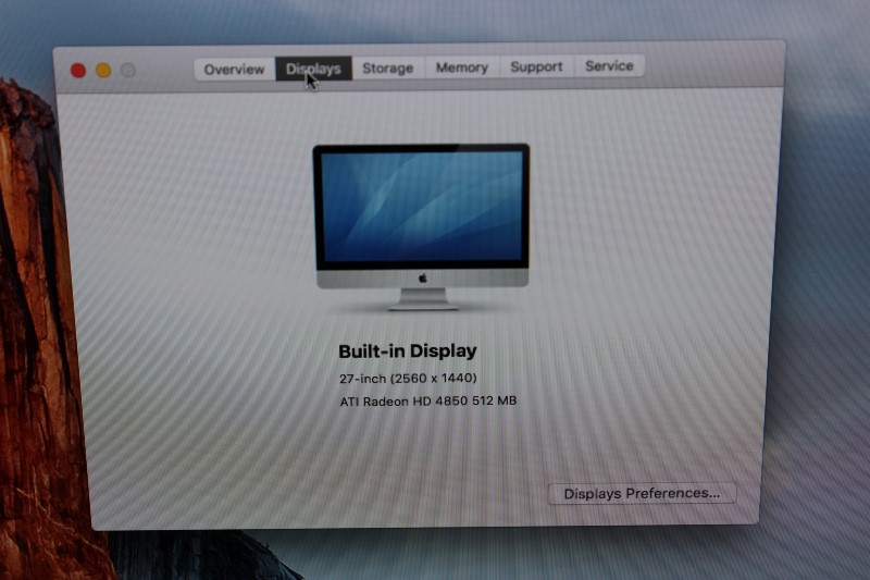 "Apple 27"" iMac 2.66GHz Intel i5, 1TB HD, 4GB Memory Late 2009"