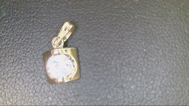 Gold-Diamond Solitaire Pendant .36 CT. 10K Yellow Gold 1.6g