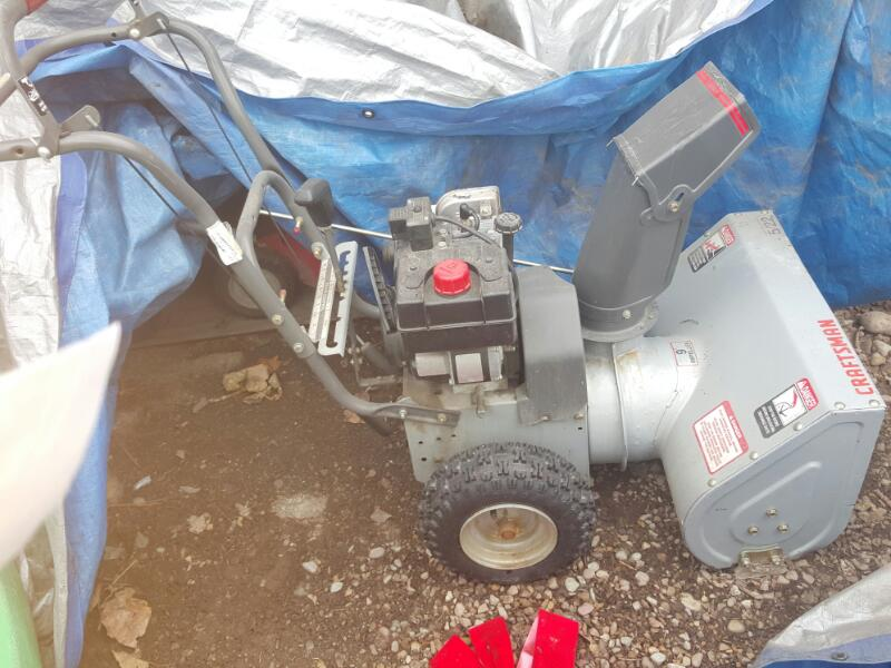 5HP GASV POWERED SNOWBLOWER-GRAY