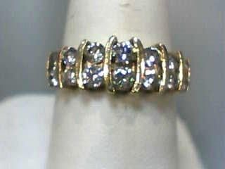 Lady's Diamond Fashion Ring 14 Diamonds 1.02 Carat T.W. 10K Yellow Gold 2.8dwt