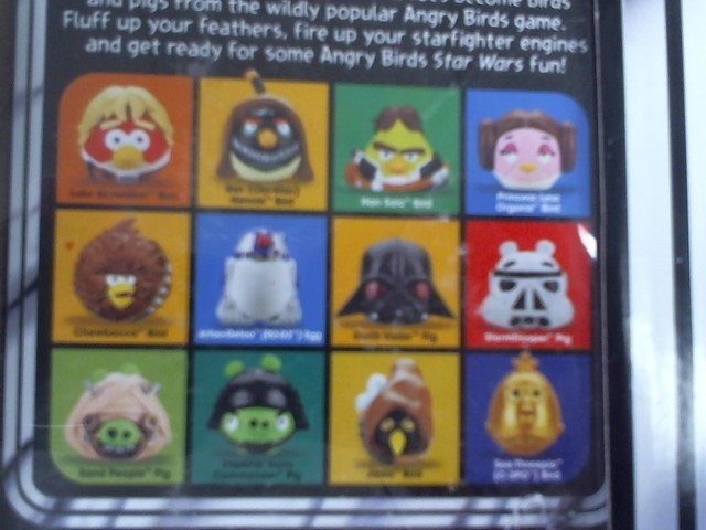 """ANGRY BIRDS """"One of a kind"""" STAR WAR FIGURE SET"""