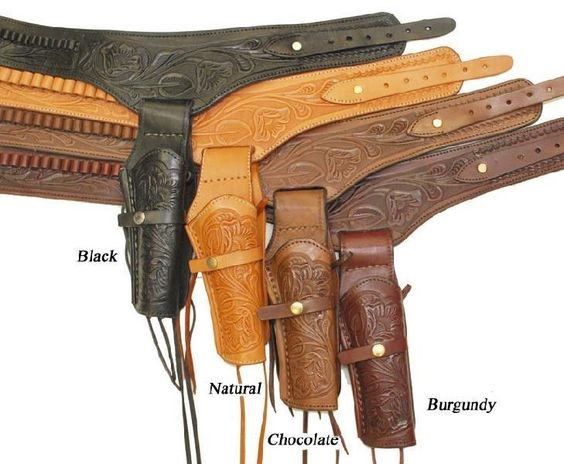 MADE IN MEXICO Holster COWBOY STYLE LEATHER BELT HOLSTER 22 COWBOY STYLE LEATHER