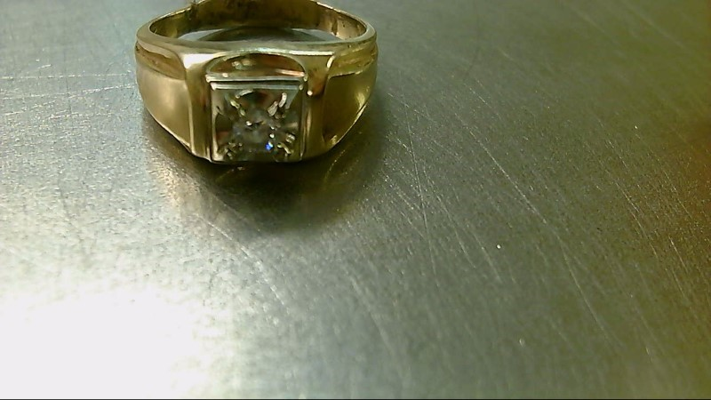 Gent's Diamond Solitaire Ring .20 CT. 10K Yellow Gold 7.2g