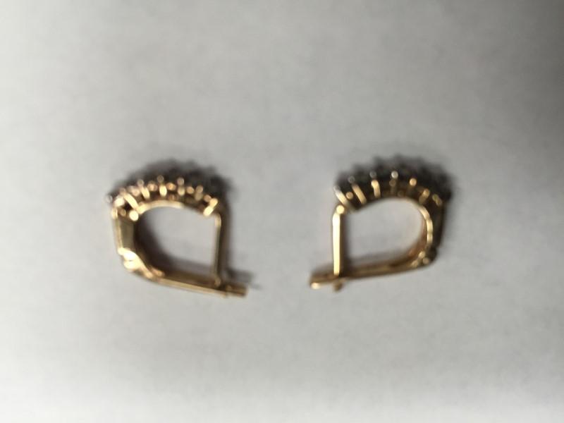 GOLD-DIAMOND EARRINGS: 1.7G 10K-Y/G, 12-ROUND BRILLIANT CUT DIAMOND 0.12CTW