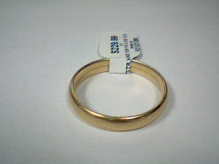 Gent's Gold Wedding Band 10K Yellow Gold 4.3g Size:12.5