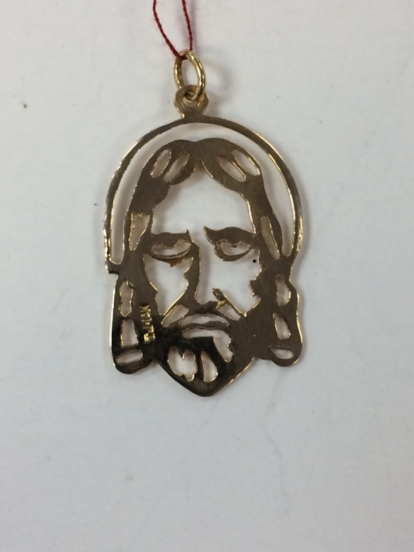 Jesus Gold Pendant 14K Yellow Gold 1g