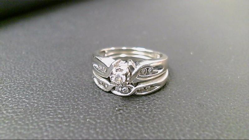 Lady's Diamond Wedding Set 11 Diamonds .60 Carat T.W. 14K White Gold 5.4g